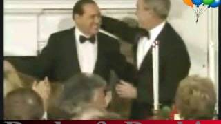 Berlusconi-Bush dinner takes turn to the silly
