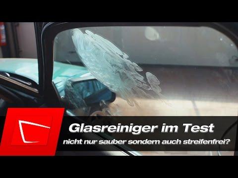 Autopflege Glasreiniger im Test - Autoscheiben vollständig und streifenfrei reinigen