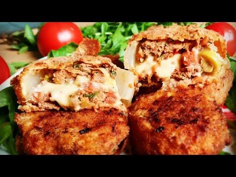 Рецепт котлет со  вкусом люля кебаб в луковом кольце Это что то необыкновенное Onion Ring Cutlets