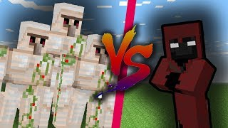 ENTITY 404 VS IRON GOLEMS! | MINECRAFT Boss Fight Animation Challenge