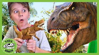 Giant Dinosaur Park Adventure With Park Ranger LB! T-Rex Ranch! Pretend Play and Dinosaurs for Kids!