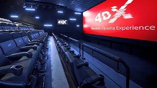 4DX Cinemas Next Generation - Motion Seats, Wind, Fog, Lighting, Bubbles, Water & Scents
