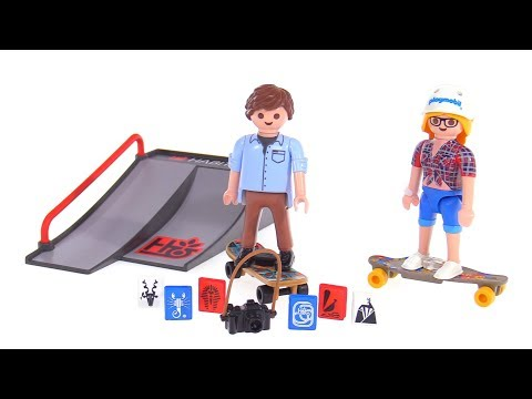 Playmobil Skateboarder & 'boarder with ramp reviews! 9094 + 9338
