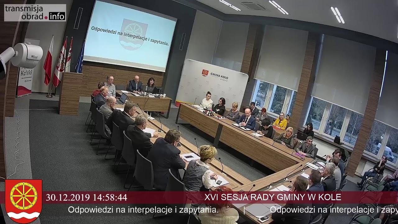Zdjęcie do XVI Sesja Rady Gminy Koło
