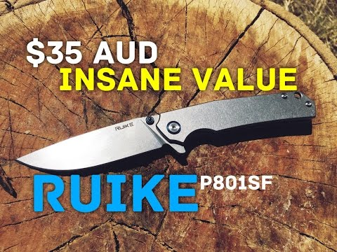 Best Value Folding Knife Ever.  Ruike P801SF.