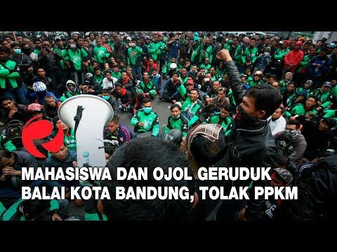 Mahasiswa dan Ojol Geruduk Balai Kota Bandung, Tolak PPKM