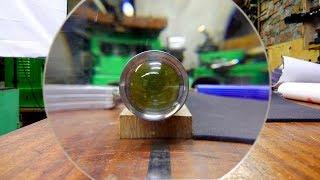 Линзование огромного фонаря - фокусировка луча