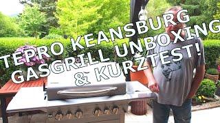 NEU: tepro Keansburg Gasgrill 3149 - tolle Ausstattung - mit Backburner -Unboxing & Kurztest