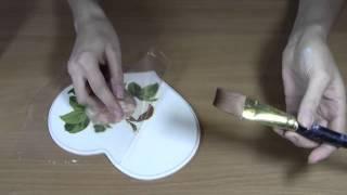 Декупаж: Как приклеить салфетку без складок.Приклеиваем салфетку методом файлика.
