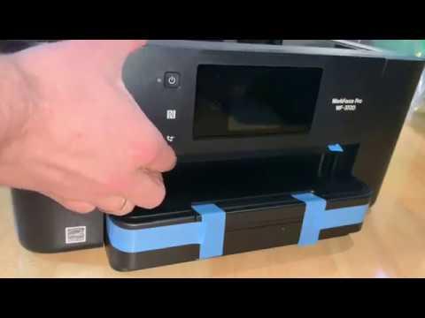Epson Drucker WorkForce Pro WF-3720DWF Tintenstrahl-Multifunktionsgerät unboxing und einrichten