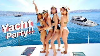 GIRLS PARTYING ON A YACHT IN GREECE!!