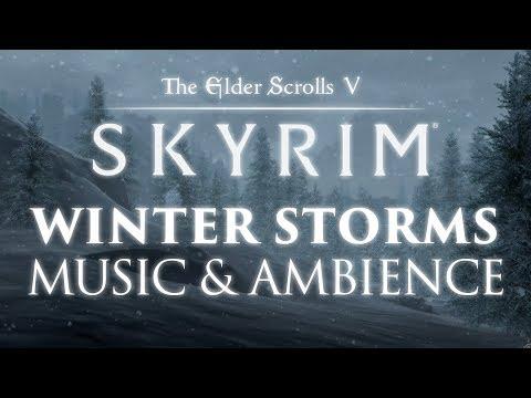 The Elder Scrolls: Skyrim | Winter Storms Music & Ambience   12 Peaceful Scenes