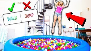 24 Hours in a BALL PiT in my LiViNG ROOM! (you decide)