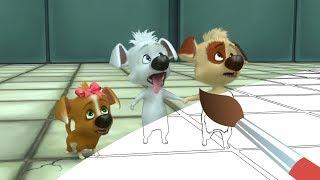 Сборник раскрасок 2 с Озорной Семейкой - Белка и Стрелка - Мультики Раскраски про собак и щенков