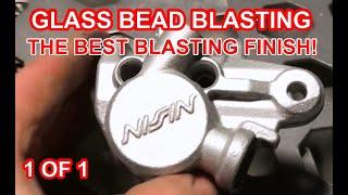 GLASS BEAD BLASTING / POLISHING ALLOY PARTS