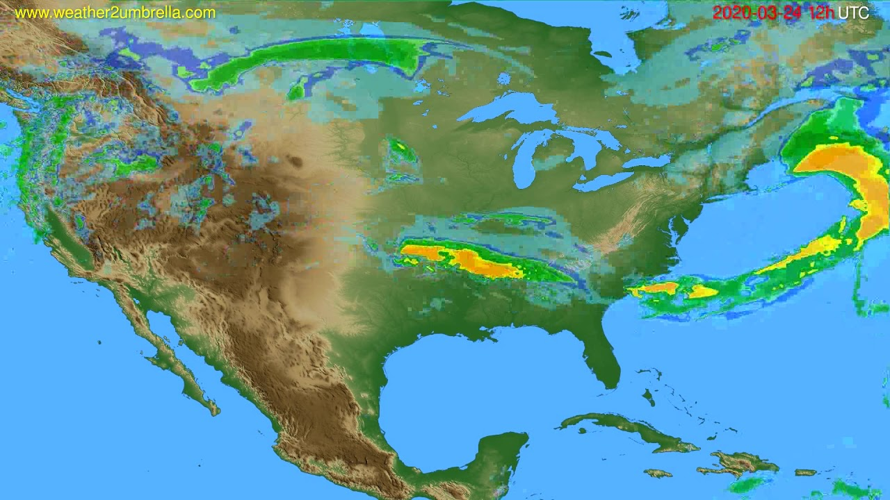 Radar forecast USA & Canada // modelrun: 00h UTC 2020-03-24