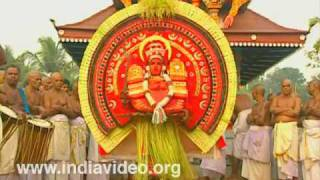 The theyyam dance of divine characters