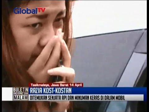 Razia kos di Tasikmalaya, petugas temukan senjata api di mobil mahasiswi cantik - BIM 14/04