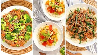 3 Stir Fry Recipes   Quick + Healthy Weeknight Dinner Recipes