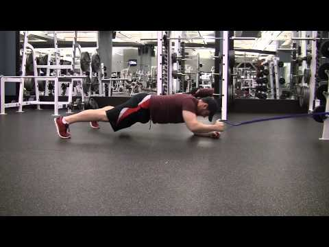 Resistance Band Plank Row Exercise Com