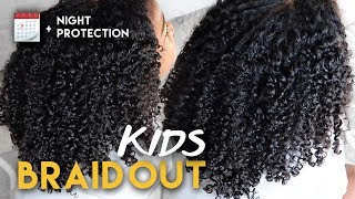 KIDS QUICK Natural Hair BRAID OUT + NIGHT ROUTINE | Naptural85