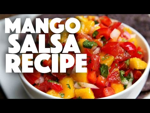 homemade mango salsa recipe – how to make pico de gallo – mexican recipes