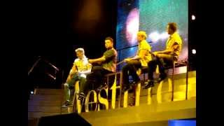 Westlife singing the Tour Medley I Gotta Feeling & Party Rock Anthem live in Liverpool 15th May 2012