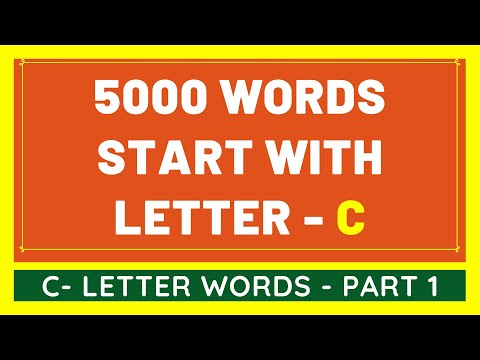 5000 Words That Start With C #1 | List of 5000 Words Beginning With C Letter [VIDEO]