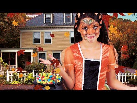 Halloween pompoen schmink voor kinderen