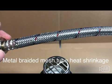 Metal braided mesh tube heat shrinkage