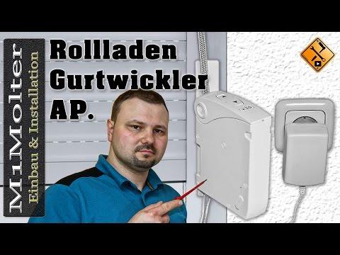 Rollladen Gurtwickler Installationsvideo / Aufputz Variante für Model: WPD25U Chamberlain