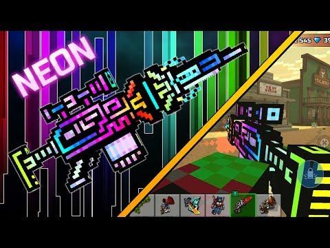 NEON Anti-Champion Rifle - Pixel Gun 3D