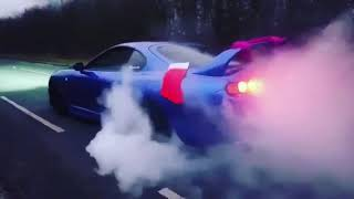 700hp Supra single turbo does Christmas burnout
