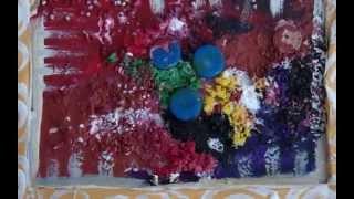 preview picture of video 'Henri Olama - Quadri con dei materiali di recupero a Verdello'