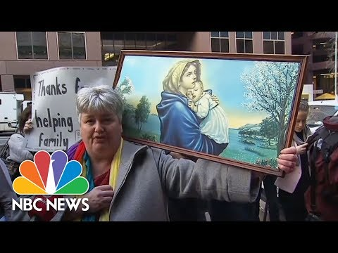 Accused Historical Sex Abuse Cardinal Heckled Outside Court | NBC News
