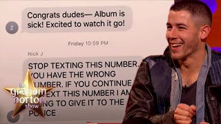 Someone Got Nick Jonas' Old Number & They Were NOT Happy | The Graham Norton Show