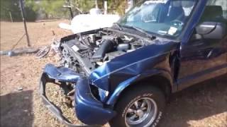 2001 Chevrolet S-10 Project Truck Wrecked