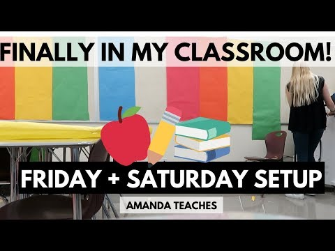 Classroom Setup Video High School Classroom Setup Back To School Supplies Haul Teacher Vlog