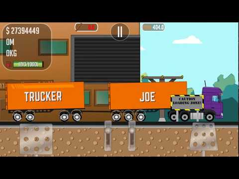 Trucker Joe transported on a new truck boards for the construction of houses for the rest