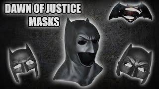 Dawn Of Justic Masks / Cowls!  Mattel, Rubies & Tundra Designs!