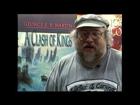 "A young, nervous and humble George RR Martin talks about his then upcoming book, "" A Clash of Kings"", in 1998"
