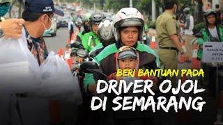 Ganjar Pranowo Beri Bantuan Pada Driver Ojek Online di Semarang yang Sedang 'Anyep' Orderan