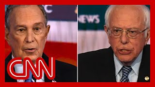 Bernie Sanders clashes with Bloomberg over wealth and big business