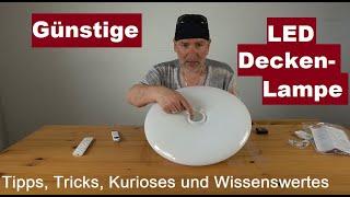 ✅Deckenleuchte LED Dimmbar Shilook mit Fernbedienung, 24W Sternenhimmel Deckenlampe Review deutsch