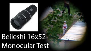 16 x 52 protable monocular telescope with 16x dual coated lens