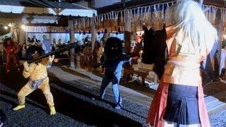 3匹の鬼退治 吉田神社で追儺式