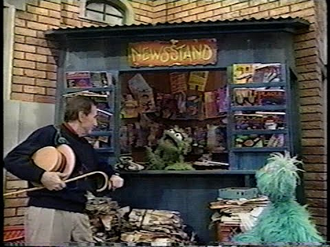 Sesame Street - Oscar Advertises His Newsstand - Sesame