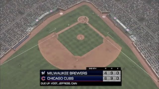 MLB CPU vs CPU League: Brewers (13-15) @ Cubs (19-8)