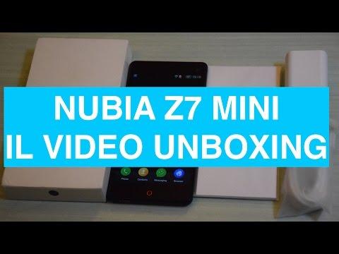 Unboxing e primo avvio ZTE Nubia Z7 Mini