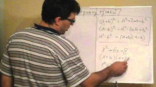 Úpravy algebraických výrazů 1